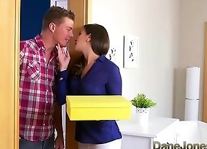 Dane Jones Cheating brunette wife is screwed with the addition of creampied by plumber