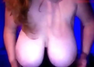 Amateur mom shows big tits on webcam