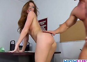 Sexy schoolgirl Maddy Oreilly gets busy