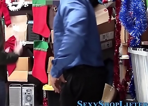 Teen shoplifter face jizz