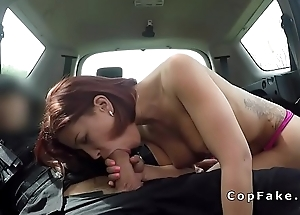 Fake cop bangs perfect looking babe