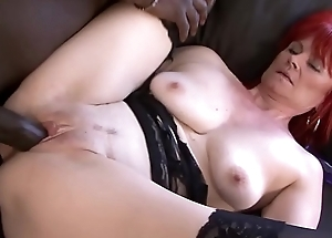Mature Foetus Interracial Hardcore Pussy Fucked and Swallows black supplicant cum