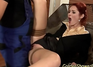 Redhead gets investigate b be received c clean soaked