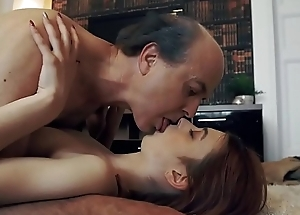 Innocent loved Teen Swallows and Spits cum after Romantic Sex everywhere Grandpa