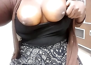 horny busty black doctor shows tits