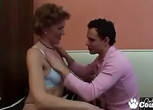 Old Granny Teachs A Young Man How To Fuck
