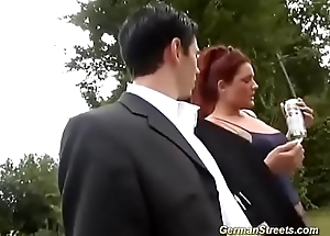 chubby redhead picked more be advisable for outdoor sex